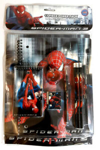 Spiderman 11 Pcs: Folders, Notebook, Notepad, Pencils, Ruler, Eraser, Sharpen.