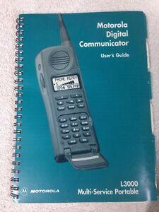 Vintage Motorola Digital Communicator L3000 Multi-Service Portable User's Guide