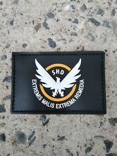 The Division SHD Patch Wings Out PVC Morale Military Badge Hook Loop UK Dispatch