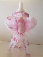"Baby Shower Centerpiece Fillable Bottle Big Large 14"" Piggy Bank Girl Decoration"