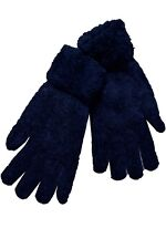 Gloves Of Wool Angora Rabbit Blue Woman Short Long Winter Double Fabric Top