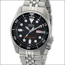Seiko Black 21-Jewel Automatic Dive Watch, Stainless Steel Bracelet #SKX013K2