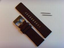DIESEL Original Ersatzband Lederarmband DZ4210 Uhrband braun watch strap brown