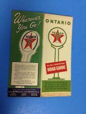 Vintage 1955 Texaco Oil Ontario Canada Touring Road Map