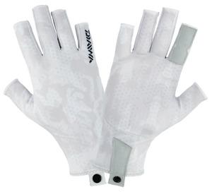 Daiwa UPF Sun Gloves WHITE HEX CAMO
