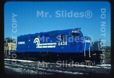 Original Slide CR Conrail New SD40-2 6438 Riverdale IL 1977