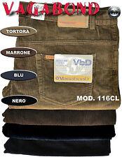 Jeans velluto Pantalone Vagabond calibrato Misure. dalla 59 alla 71 Marrone 67