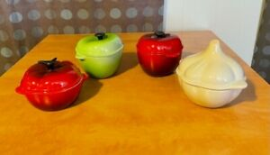 Le Creuset Mini Vegetables/Fruit Cocotte Ramekin Set of 4