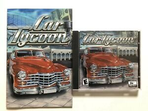 Car Tycoon (PC, 2002) Computer CD-ROM Game with Jewel Case & Manual