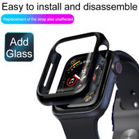 360° Full Cover Bumper Case+Temper Glass Shell for Apple Watch Series 5 4 3 2 1