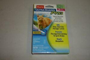 HARTZ ULTRA GUARD PRO 3 TREATMENTS FOR CATS 5 LBS. & OVER NEW FREE SHIPPING