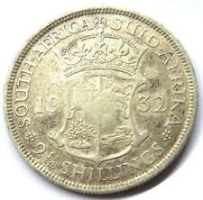 1932 George V South Africa Silver 2.& 1/2 Shillings / Half-Crown Coin