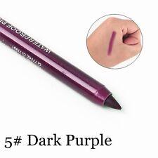 2x Long Lasting Eye Liner Pencils Pigment Waterproof White Color Eyeliner Makeup Dark Purple