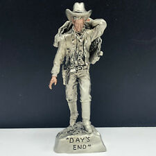 MASTERWORKS PEWTER COWBOY FIGURINE statue sculpture western Day's end saddle usa