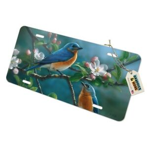 Eastern Bluebirds Blue Birds Thrush Novelty Metal Vanity Tag License Plate