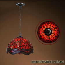 New Tiffany Style Stained Glass Pendant Lamp Shade Home Decor Hanging Light UK