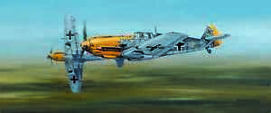 Limited Edition Aviation Print Looking for Trouble by Philip West Messerschmitt