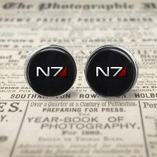 N7 12mm Stud Post Earrings, Mass Effect earrings, Gift Box, Gift for Her.