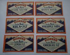More details for rare antique  13 different excellent  set of 1904 pioneer wagon train pop labels