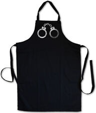 Handcuffs Bbq Cooking Kitchen Apron Criminal Gangster Police Cuffs Bondage