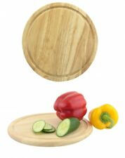 30cm Round Wooden Bread Chopping Cutting Board Cheese Fruit Vegetables Slicing