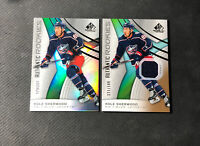 2019-20 SP GAME USED KOLE SHERWOOD LOT (2) AUTHENTIC ROOKIE /297 + JERSEY /599