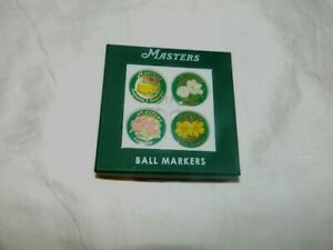 Masters Tournament Ball Markers 4 Pack Augusta National with Magnolia Brand New