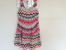 H & M DRESS,SUMMER MULTI COLOURED SIZE 10 BNWT TIERED SLEEVELESS LOW BACK