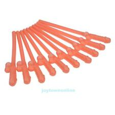 10Pcs WILLY DRINKING NUDE HENS NIGHT GAMES PARTY PENIS DICK STRAWS 18CM