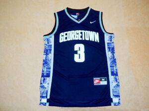Allen Iverson #3 Georgetown Hoyas Basketball Jersey Black & Blue | S to 4XL