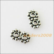 80 New 2Holes Bars Connectors Charms Tibetan Silver Tone Spacer Beads 4x7mm