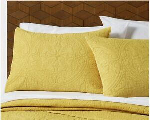 "OPALHOUSE Medallion Saffron Stitched Pillow Sham Standard 20"" x 26"""