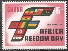 Ghana Stamp - Scott #76/A22 6p Rose & Black OG MNH 1960