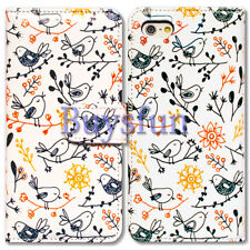 Bcov Cute Birds Wallet Leather Cover Case For iPhone 8