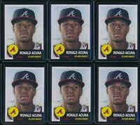 2018 Topps Living Set Ronald Acuna Jr. RC 6 Card Lot #19 Rookie Atlanta Braves
