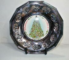 Marshall Field's Gorham Silver 1997 Christmas Tree Tile Display Plate