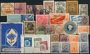 WORLDWIDE CLASSIC UNCHECKED LOT OF DIFF. UM/NH & USED STAMPS + REVENUES #A115