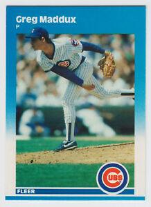 1987 Fleer Glossy - Greg Maddux - #68 - Chicago Cubs - Atlanta Braves