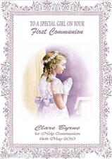 Personalised Girl Communion Card Design 3