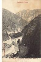 axat vue prise du chateau sur la gorge et le pont du chemin de fer ,perpignan