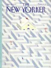 New Yorker COVER - 01/28/1991 Snow Maze OSBORN YOUNG