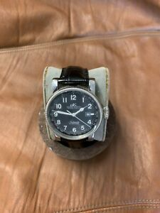 Men's Adee Kaye Beverly Hills Automatic Watch XXL 43MM Case Leather Strap