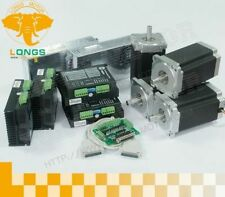 【US Free】excellent quality nema 23 step motor 425oz.in&DM542A 4Axis Kit Mill