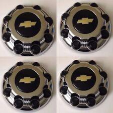 "4 PCS 8 Lug Center Caps CHROME CHEVY Express Van 2500 3500 9597163 ""NEW"" 9597170"
