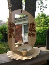 Vtg Lenox Americana COLLECTION Mirrored hand painted candle wall sconce SEE NOTE