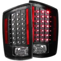 ANZO L.E.D Tail Lights Black For Dodge Ram 1500 06-08 / Ram 2500/3500 07-09