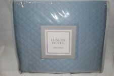 "New Luxury Hotel Diamond Matelasse King Pillow Sham Blue 20"" x 36"" (1) Sham"