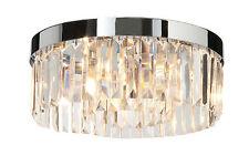 Lampadari da soffitto trasparenti cromo , Numero di luci 1-3