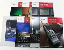 BROCHURE: ICOM and ICOM HAM - IC-737A IC-738 IC-736 IC-R8500 IC-W21AT - Lot of 7