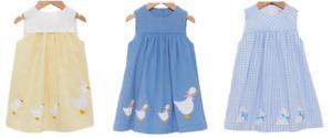 TROTTERS GIRLS DRESS -  LITTLE BUNNY/PETAL DUCK & JEMIMA PINAFORE DRESS - New